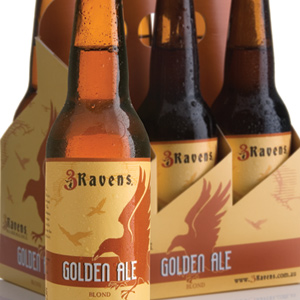 3Ravens Beer label and outer re-brand & design