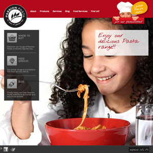 Passion Pasta new website designed by Moko Creative Melbourne
