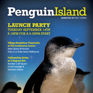Penguin Island, promo poster designed by moko creative melbourne