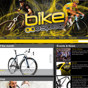 Moko Created Bike Spec's dynamic logo, web site, racing jerseys and other branding